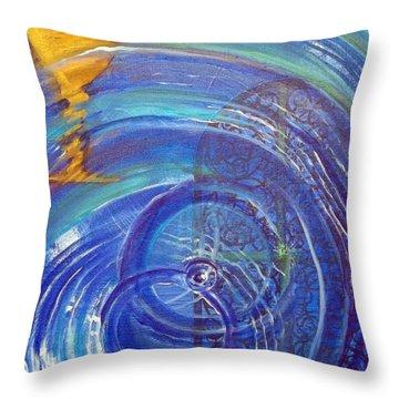Yaweh El Shaddai Right Canvas Detail Throw Pillow
