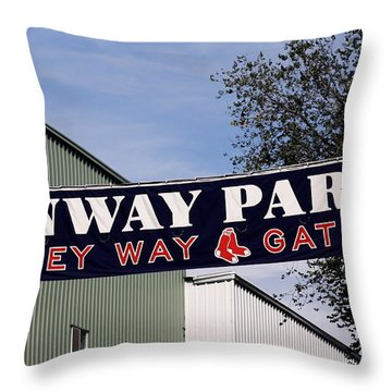 Yawkey Way II Throw Pillow by Greg DeBeck