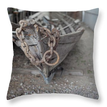 Throw Pillow featuring the photograph Ye Old Fishing Boat by Fran Riley