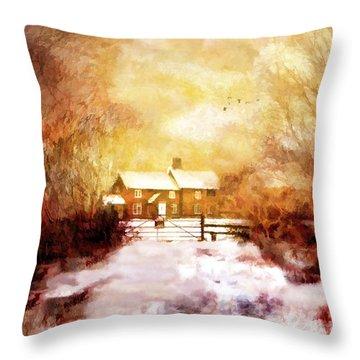 Ye Olde Inn Throw Pillow