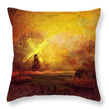 Ye Olde Mill Throw Pillow