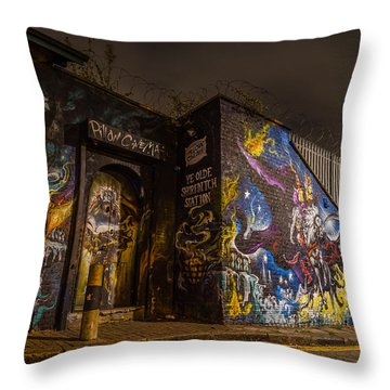 Ye Olde Railway Station Throw Pillow
