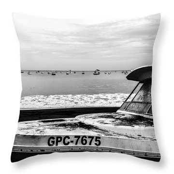 Yeah I Gotta Boat  Throw Pillow