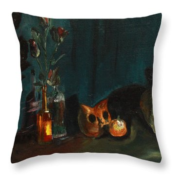 Yeah Its Halloween Throw Pillow by Jane Autry