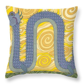 Year Of The Dragon Throw Pillow by Pamela Schiermeyer