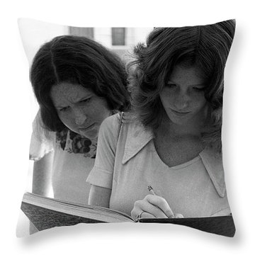 Yearbook Signing, 1972, Part 1 Throw Pillow