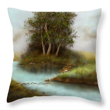 Yearling Throw Pillow by Sena Wilson
