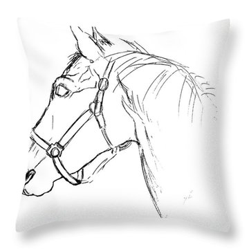 Yearling White Throw Pillow