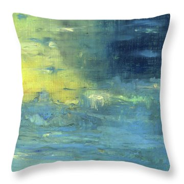 Throw Pillow featuring the painting Yearning Tides by Michal Mitak Mahgerefteh