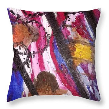 Throw Pillow featuring the painting Yearning To Be Free by Kevin Daly