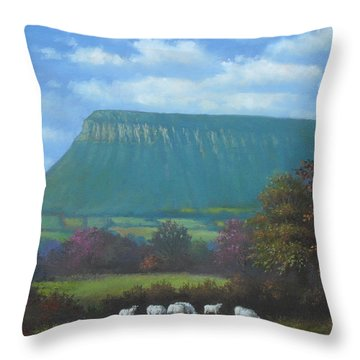Yeats Country With Benbulben Throw Pillow by Sean Conlon