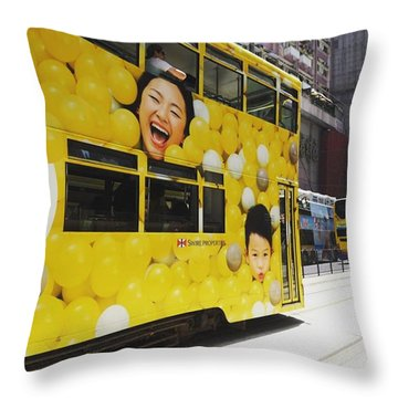 Yeay..the Tram Has Arrived Throw Pillow