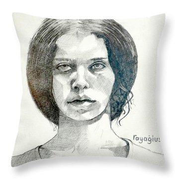 Yelena Throw Pillow by Ray Agius