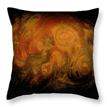 Yellow 3567 Signed Throw Pillow