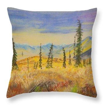 Yellow Alaska Throw Pillow