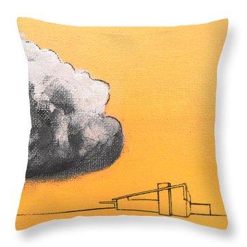 Yellow Alex Dark Cloud Throw Pillow by Stan  Magnan
