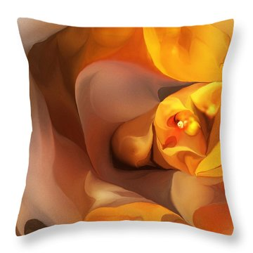 Yellow And Gold Abstract 050712 Throw Pillow