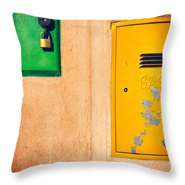Throw Pillow featuring the photograph Yellow And Green by Silvia Ganora