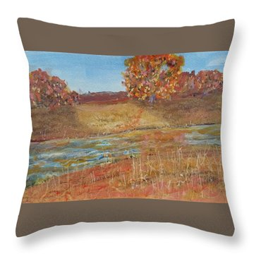 Yellow And Red Maples Throw Pillow