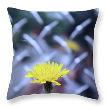 Yellow And Silver Throw Pillow