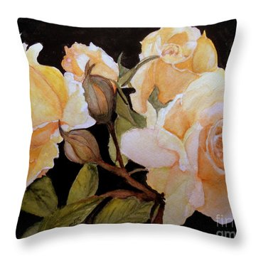 Yellow Beauties In Garden Throw Pillow