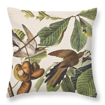 Yellow Billed Cuckoo Throw Pillow