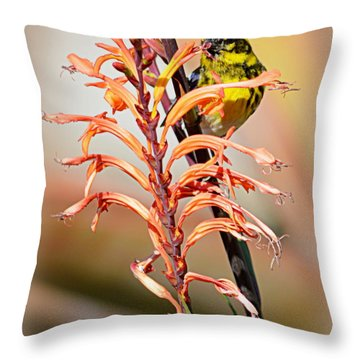 Yellow Bird Hi Throw Pillow
