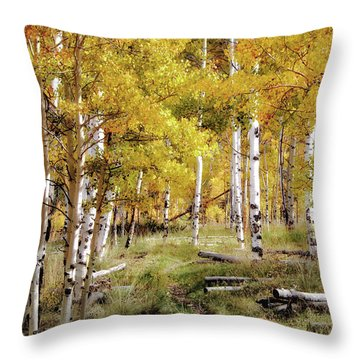 Yellow Bliss Throw Pillow