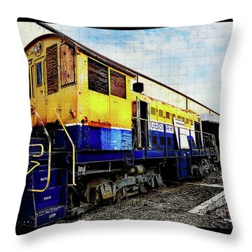 Yellow/blue Birmingham Throw Pillow