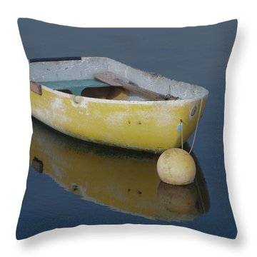 Yellow Rowboat Throw Pillow