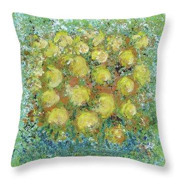 Yellow Bouquet Throw Pillow