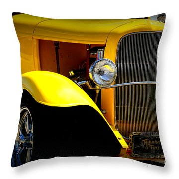 Yellow Boy Throw Pillow