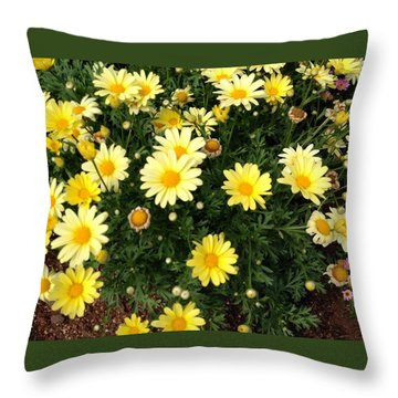 Yellow Buds Throw Pillow by Alohi Fujimoto
