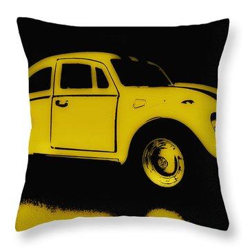Yellow Bug Throw Pillow