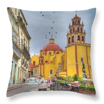 Yellow Church Throw Pillow