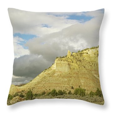 Yellow Cliffs Throw Pillow