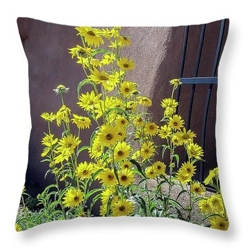 Yellow Composites At Ghost Ranch  Throw Pillow