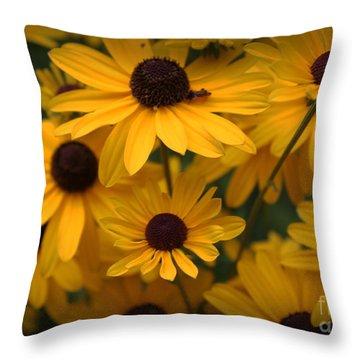 Yellow Coneflowers 2 Throw Pillow