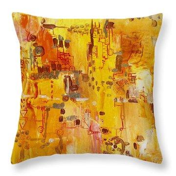 Yellow Conundrum Throw Pillow