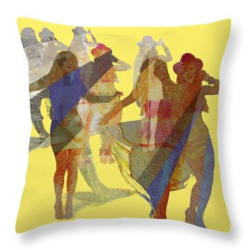 Yellow Dance Throw Pillow