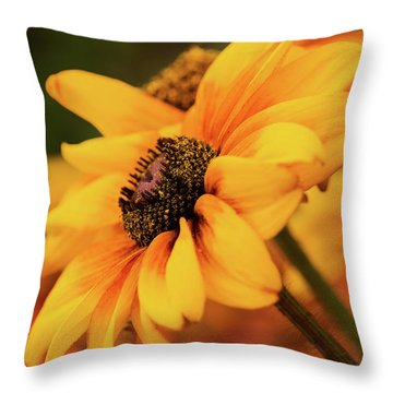Throw Pillow featuring the photograph Yellow Dark by Mary Jo Allen