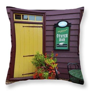 Yellow Door In Annapolis Throw Pillow