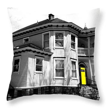 Yellow Door Throw Pillow by Will Borden