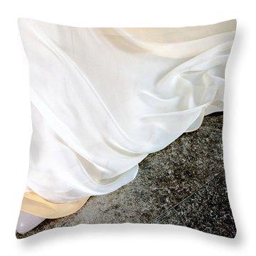 Yellow Dress #9936 Throw Pillow