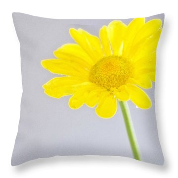 Yellow Drops Throw Pillow by Shelly Gunderson