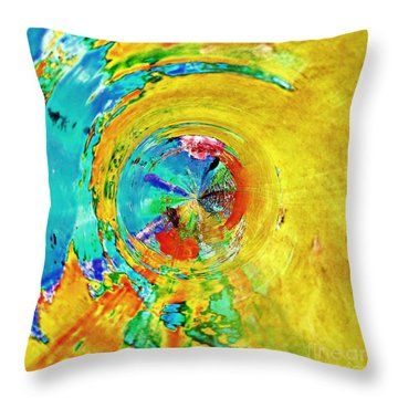 Yellow Eclipse  Throw Pillow