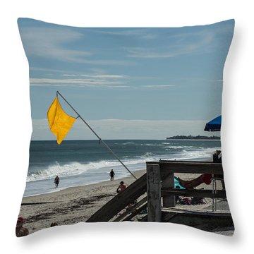 Yellow Flag Throw Pillow by Nance Larson