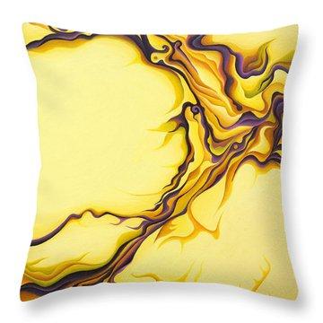 Yellow Flow Throw Pillow
