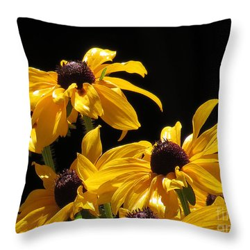Yellow Flower 2 Throw Pillow