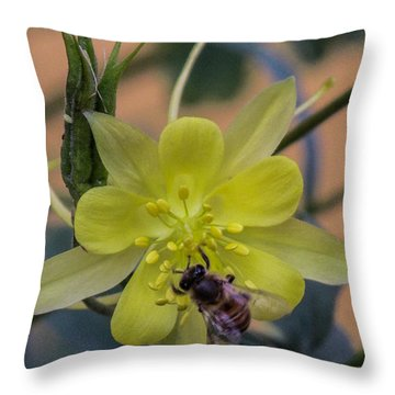 Yellow Flower 5 Throw Pillow